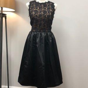 NEW Banana Republic black lace cocktail dress 10